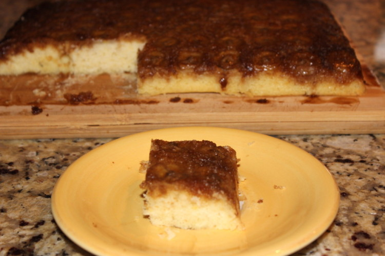 Brown Sugar Banana Upside Down Cake
