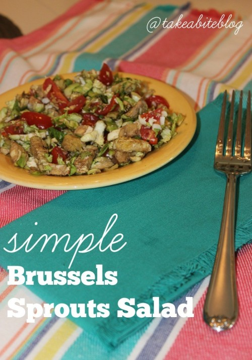 Simple Brussels Sprouts Salad for #NationalSaladMonth
