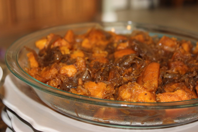 Sweet Potato and Caramelized Onion Hash #Brunchweek