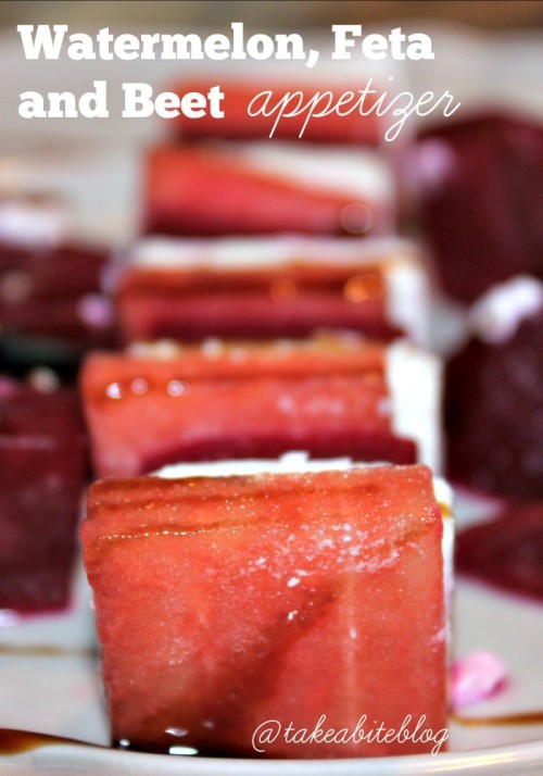 Watermelon, Feta and Beet Appetizer #SundaySupper