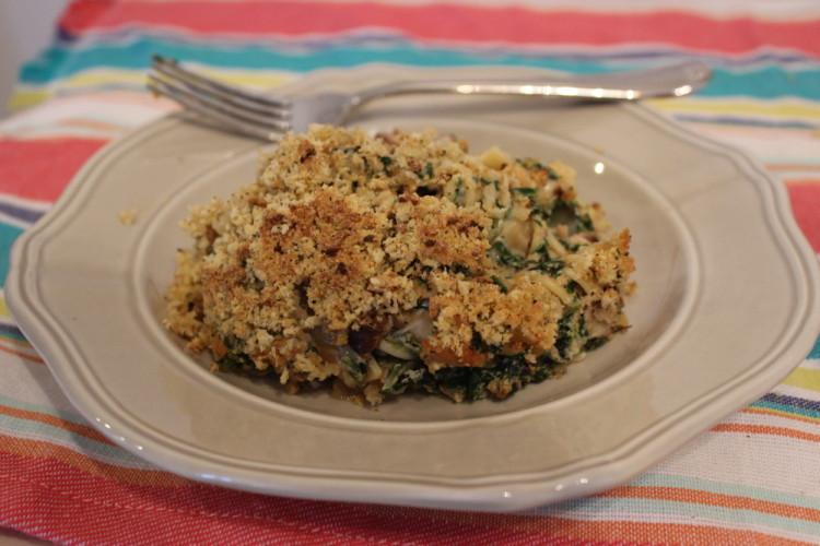 Sundried Tomato Spinach and Mushroom Tuna Noodle Casserole #TunaStrong #CG