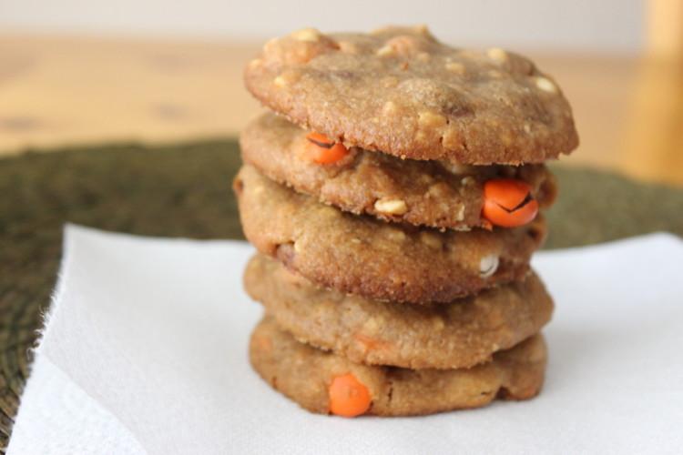Flourless Peanut Butter Pumpkin Spice Cookies #leftoversclub
