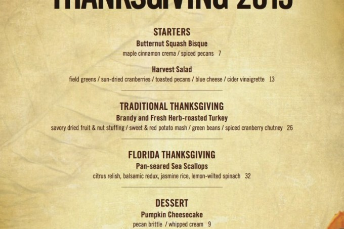 Thanksgiving in Palm Beach County
