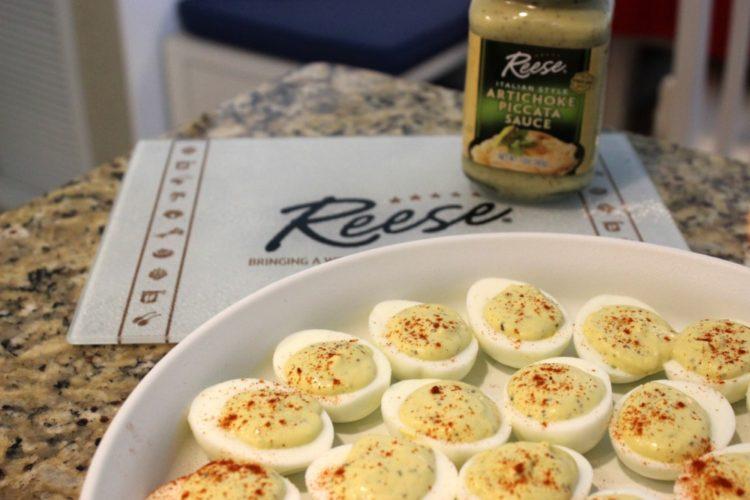 Artichoke Piccata Deviled Eggs