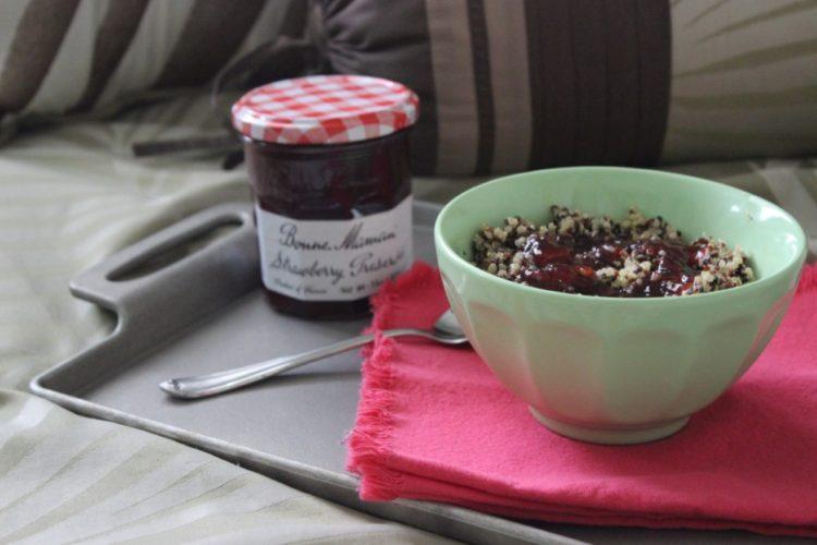 Breakfast Quinoa with #BonneMaman Strawberry Preserves #SayItWithHomemade