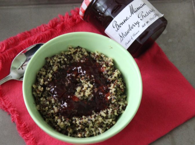 Breakfast Quinoa with #BonneMaman Strawberry Preserves #SayItWithHomemade