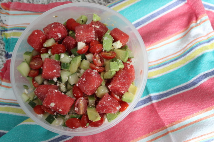 Watermelon and Feta Summer Salad #SundaySupper