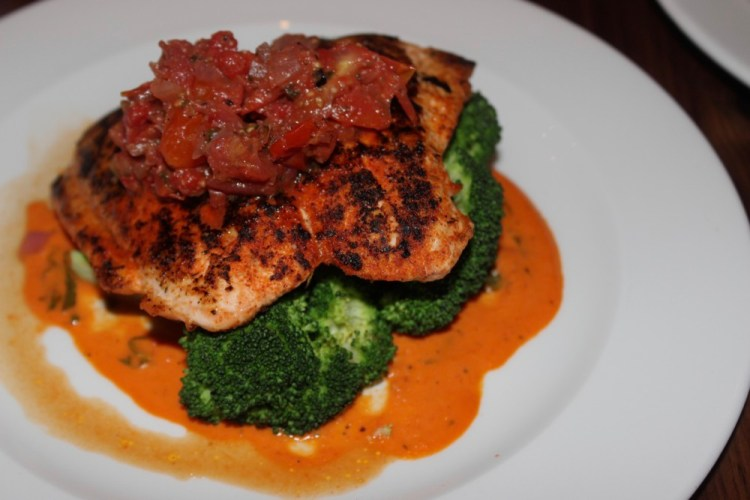 Burton's Grill and Bar, Paleo Pan Seared Salmon