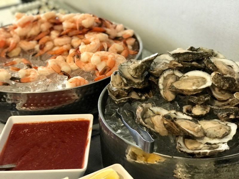 Brunch at Latitudes at the Delray Sands Resort, Shrimp Cocktail and Oysters
