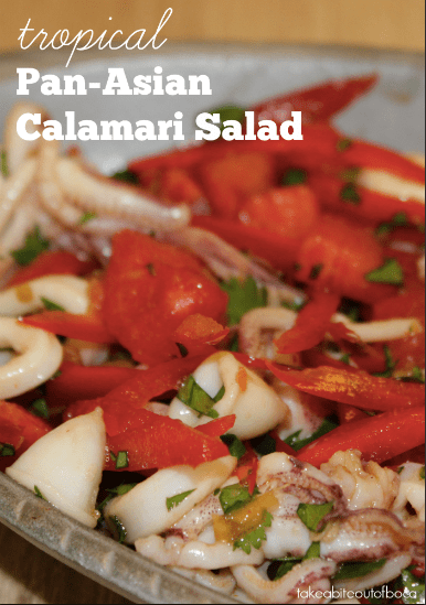 Tropical Pan-Asian Calamari Salad, Fresh From Florida
