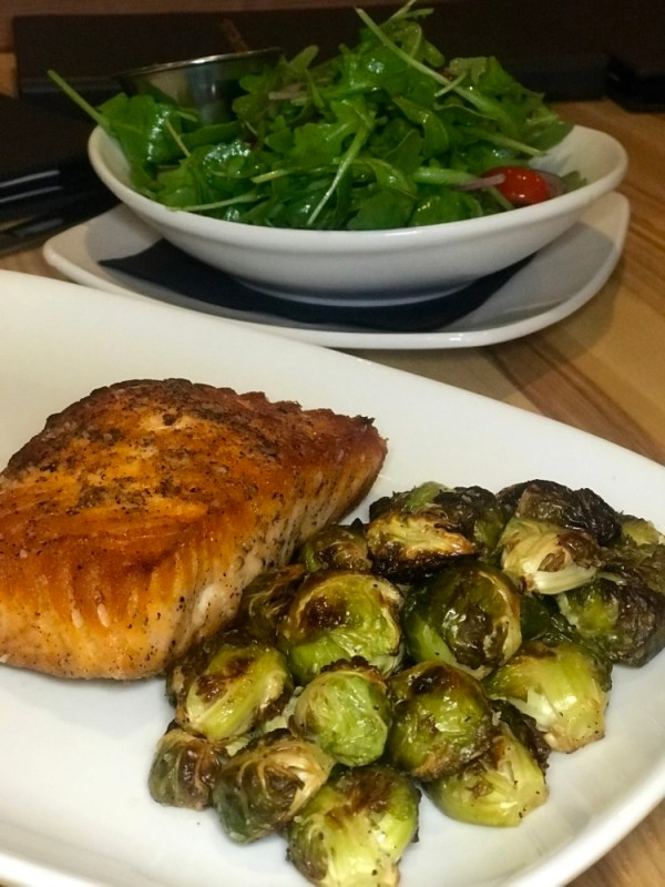 Movie Bistro at Cinemark Boca Raton, Pan Seared Salmon and Brussels Sprouts