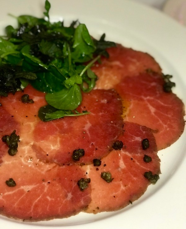 The Venu West Boynton Beach, Beef Carpaccio
