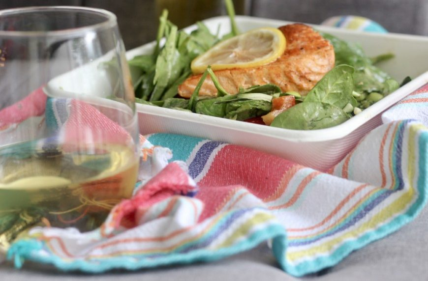 Italian Wines, Soave paired with salmon salad