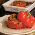 Recipe for Gluten-Free Vegetarian Quinoa-Stuffed Peppers