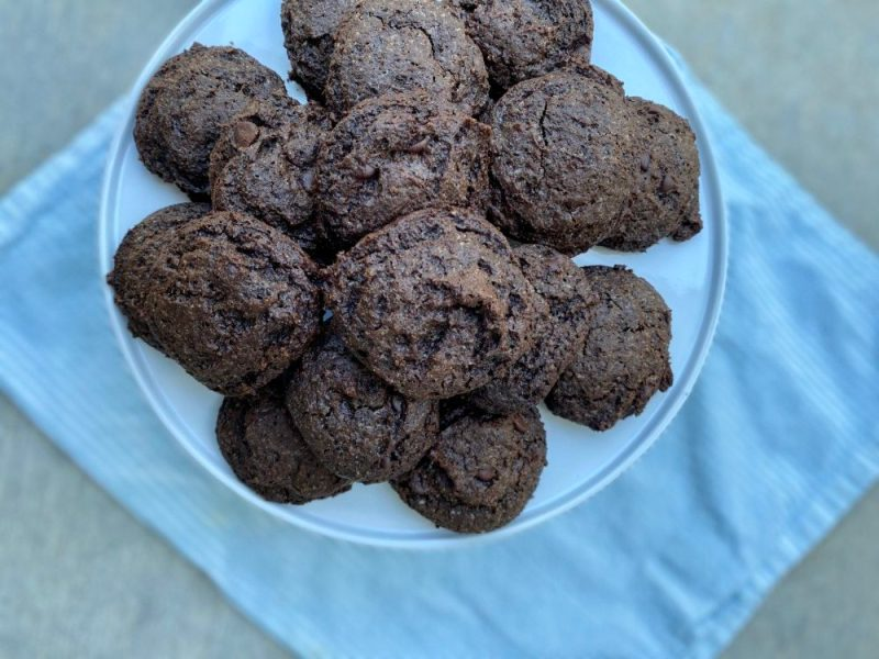 Keto Almond Butter Double Chocolate Cookies