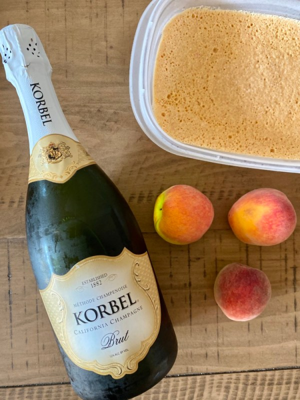 Frozen Bellini with Homemade Peach Sorbet with Florida Peaches