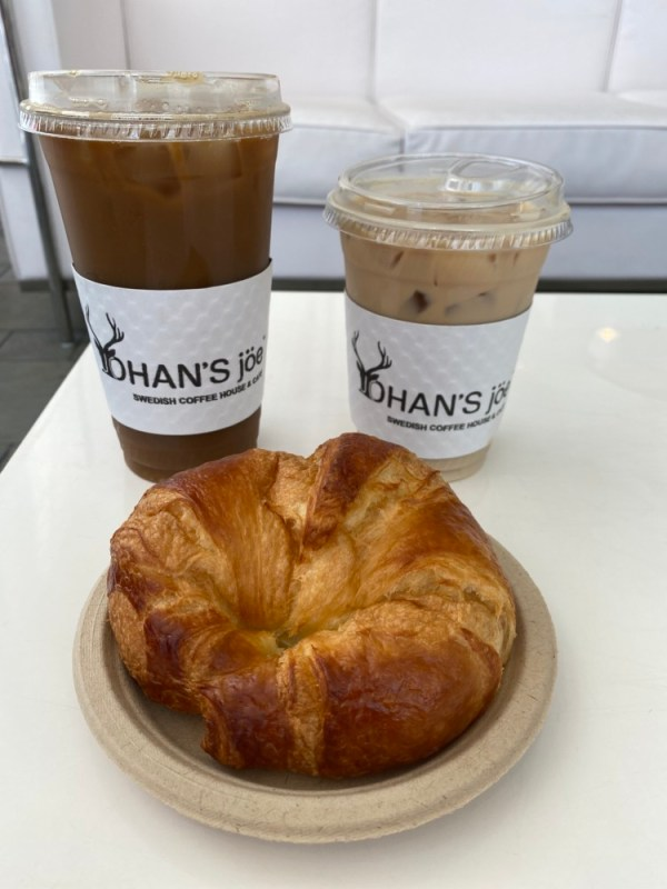 Johan's Joe West Palm Beach, Craft Cold Brew and Crossiant