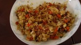 Egg-fried rice.