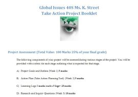 Take Action Project Booklet pic