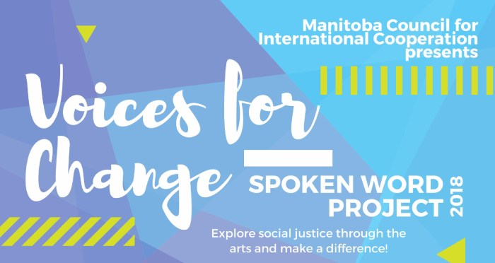 OPPORTUNITY – Manitoba Youth Spoken Word Project