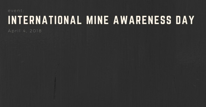 EVENT: International Mine Awareness Day