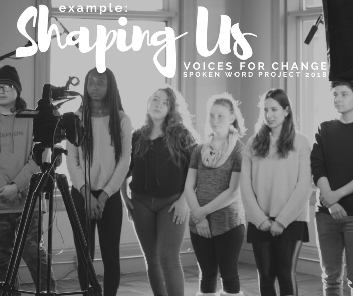 EXAMPLE: 'Shaping Us' – Gender Equality Spoken Word ft. MB students