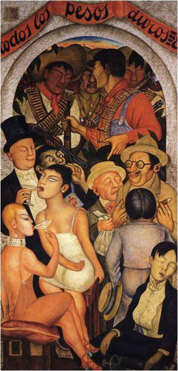 Night of the Rich, Diego Rivera (1928)