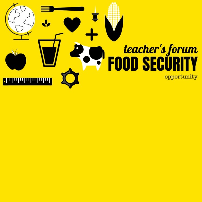 OPPORTUNITY: Teacher's Forum on Food Security (CFGB)