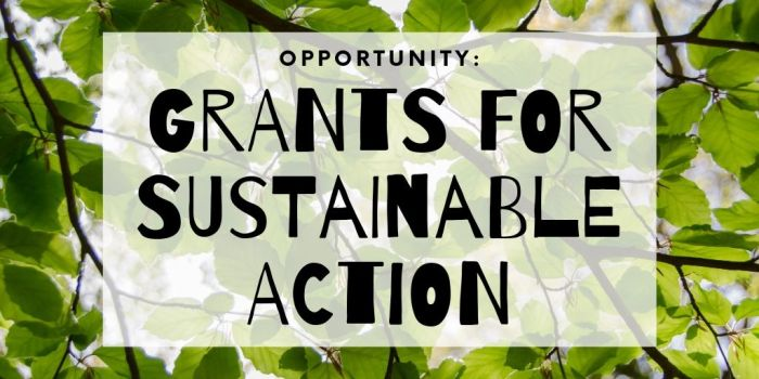 OPPORTUNITY: Grants for Sustainable Action