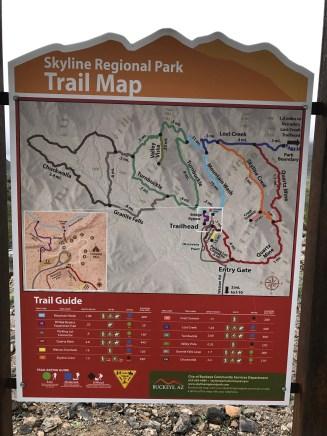 Skyline regional park map