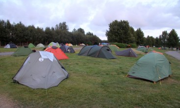 Camping in downtown Reykjavik