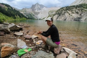 A Picnic Lunch at Snowmass Lake