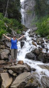 Enjoying a Side Trip to Spray Falls