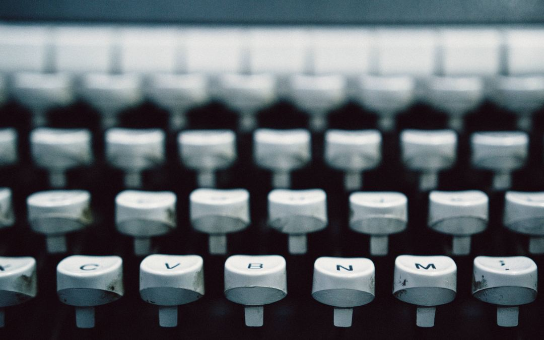 typewriter keys Take A Letter Virtual Admin Services