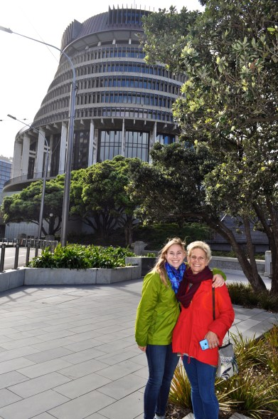 """The """"Beehive"""" Parliament Building"""