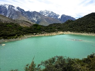 The Blue Pools are green because they are no longer fed by the glacier but rainwater instead!