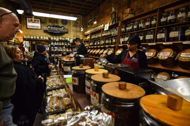 Prestogeorge Coffee and Tea store Pittsburgh Strip District