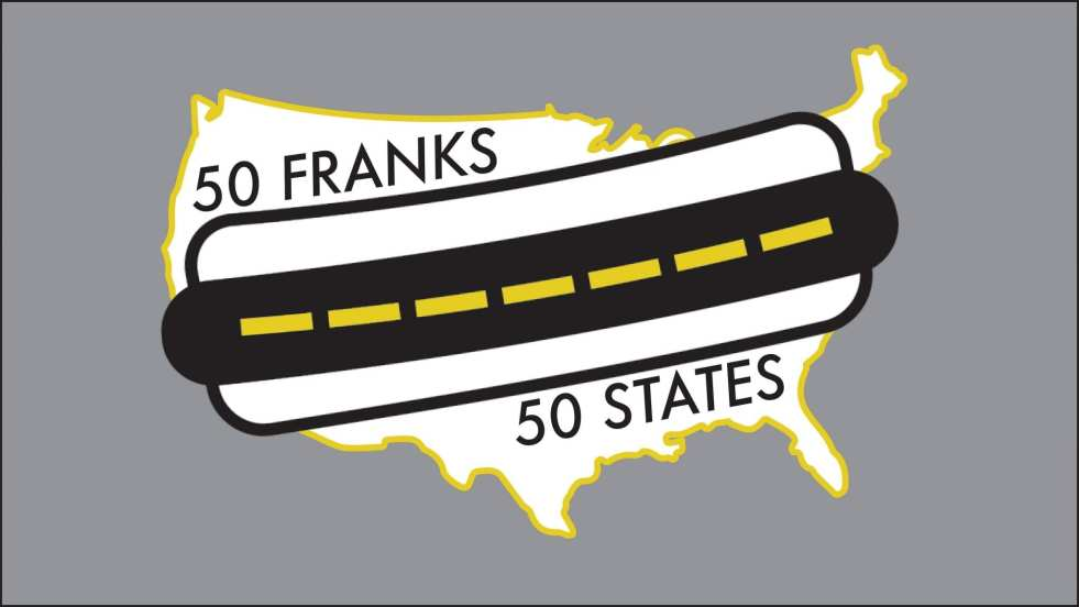 50 franks 50 states hot dog travel challenge: the quest for America's best hot dogs