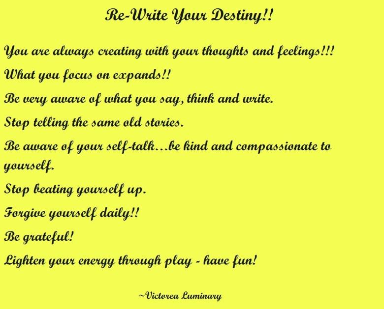 REWRITE YOUR DESTINY