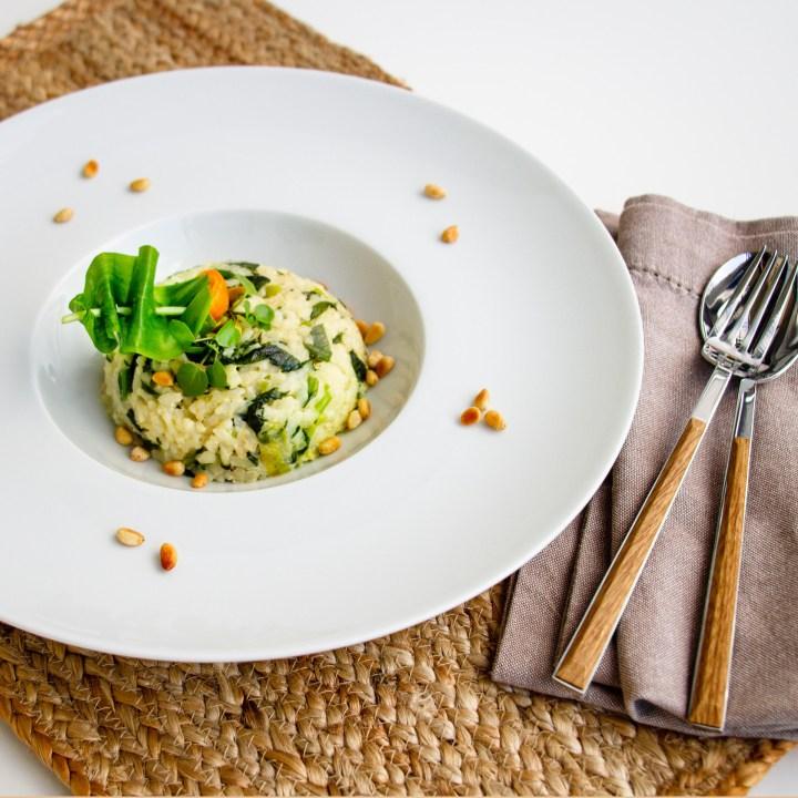 Bärlauch-Risotto – fein scharf & vegan