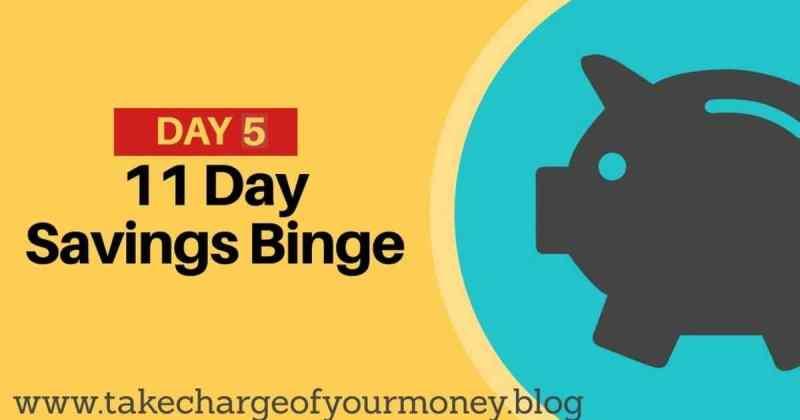 Savings Binge progress