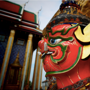 Demon guarding palace in Bangkok