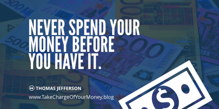 Never spend money before you have it. Great quote on importance of cashflow.