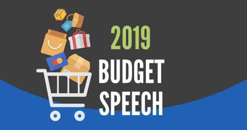 2019 Budget speech