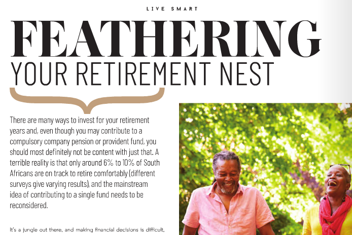 Retirement article in Estate Living magazine April 2019