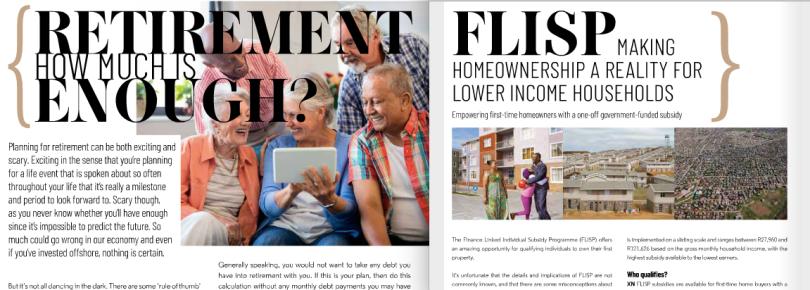 Estate Living - 2 articles in June 2019 magazine