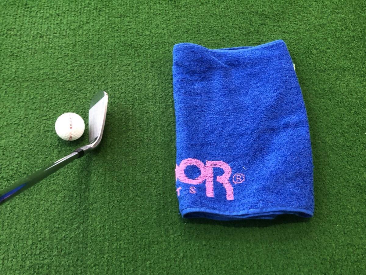 タオルを使ったゴルフ練習