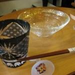 江戸切子のロックグラスと冷酒杯