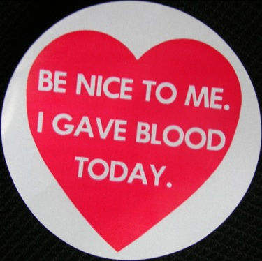 gave blood today