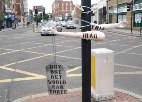 Arms Fair in East London, photos and collaboration with Leah Borromeo.